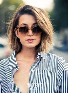 short hair round face