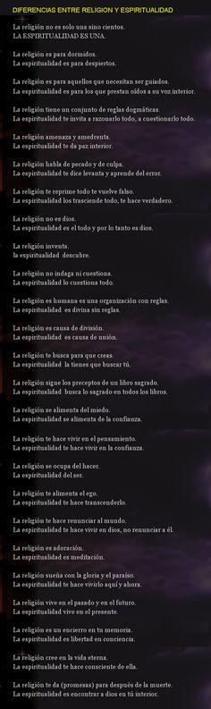 ... Diferencias entre religión y espiritualidad. http://agarthaelrefugiointerior.blogspot.com.es/2013/06/diferencias-entre-religion-y.html