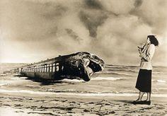 """Este fotomontaje """"Sin título"""", 1949 realizado por Grete Stern pertenece a la serie """"Sueños"""", unos 150 fotomontajes realizados entre1948 y 1952, por encargo dela revista fe…"""
