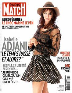 """Pour ou contre le look """"juvénile"""" d'Isabelle Adjani en couverture de Paris Match ?"""