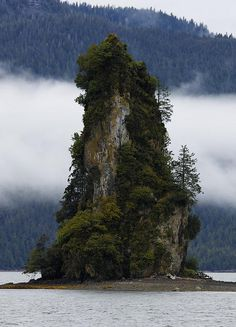 New Eddystone Rock in Misty Fjords National Wilderness Monument Park, Alaska--so beautiful!!