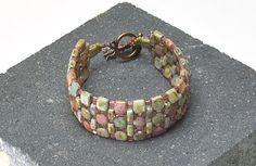 Cobblestone Path by TrendSetter Rochelle Petersen Beaded Jewelry Designs, Seed Bead Bracelets, Jewelry Making Beads, Handmade Jewelry, Seed Beads, Seed Bead Tutorials, Beading Tutorials, Beaded Bracelet Patterns, Jewelry Patterns