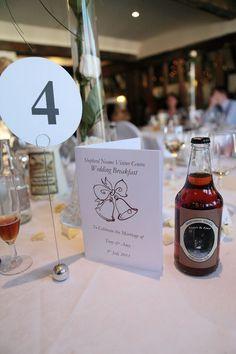 Wedding breakfast table settings image