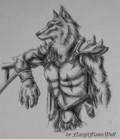 Werewolf_warrior_by_NargilFlameWolf.jpg (860×1000)
