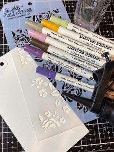 Sharpie Markers, Copic Markers, Distress Markers, Wild Honey, Mixed Media Techniques, Nest Design, Stampers Anonymous, Card Making Techniques, Happy Weekend