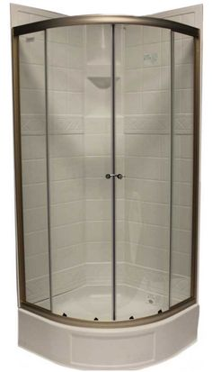 Aqua Glass Shower Stall Installation Framed