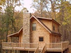 Log Cabin in the Woods Log cabin homes are a popular choice for families. Land in the woods . Tiny Cabins, Cabins And Cottages, Log Cabins, Mountain Cabins, Mountain Living, Log Cabin Living, Log Cabin Homes, Modular Log Cabin, Log Home Designs