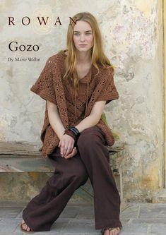 Gozo Poncho in Rowan Cotton Glace- free  pattern.  Gorgeous!