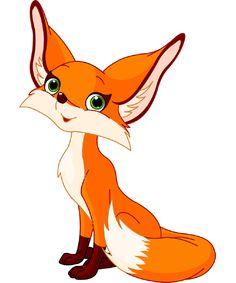 Vector Fox. Cute Cartoon Animal. Adorable Fox. Funny Fox. Clip Art ...