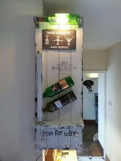 Wine rack,  made by mike ward