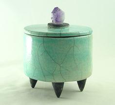 RESERVED FOR POIFED Box Handmade Raku door DeBaunFineCeramics