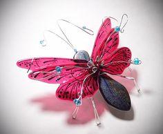 Flight into Fantasy  Fused Glass Silver by DragonflyDreams1