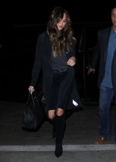 Chrissy Teigen wearing the W2 Mid Rise Skinny in Black Fade