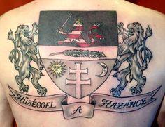 Coat of arms tattoo (Bonyhád - Hungary)