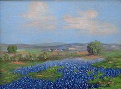 Thomas L Lewis Bluebonnets 12x16 Oil on Canvasboard