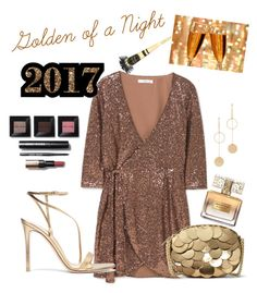 """""""GOLDEN OF A NIGHT NYE"""" by karina-araya on Polyvore featuring MANGO, Gianvito Rossi, MICHAEL Michael Kors, Cloverpost, Givenchy and Bobbi Brown Cosmetics"""