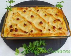 Pastel de pescadores Fish And Seafood, Lasagna, Ethnic Recipes, Gratin, Fish Recipes, Salads, Pastries, Christmas Dinner Parties, Lasagne