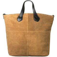 Suede Shopper Bag (£60) ❤ liked on Polyvore featuring bags, handbags, brown purse, mango handbags, brown bag, suede handbags and suede leather handbags