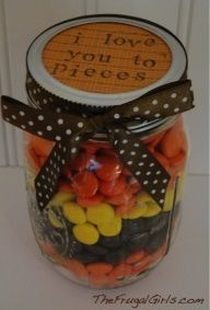I Love You to Pieces gift in a jar...would be so cute for Valentines Day