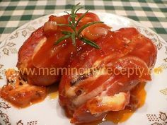 Špekáčky s nivou a cibulí Baked Potato, Pork, Potatoes, Chicken, Meat, Baking, Ethnic Recipes, Cooking, Kale Stir Fry
