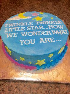 Reveal Baby Shower Cake