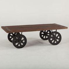 Original Coffee Table on Wheels : Wheel Cart Coffee Table. tables on wheels
