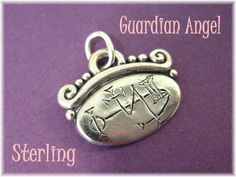 Guardian Angel ~ Sterling Silver Angel Symbol Pendant ~ Mystic New Age - FREE SHIPPING by FindMeTreasures on Etsy