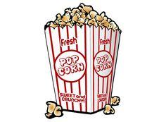 Free Popcorn Vector Clip Art Image