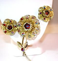 Fashion Flower Brooch 6834 and daring clip by AllAboutSarah