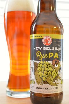 New Belgium Brewing RyePA (Hop Kitchen #5), 22 oz., 7.5% ABV, 75 IBUs. I really like New Belgium's new labels. Great designs.