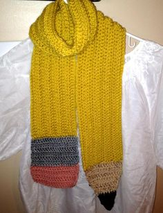 Looking for crocheting project inspiration? Check out Studious Teacher Pencil Scarf by member crochet4fun.