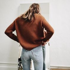 fashion, jeans, and outfit image Street Style Outfits, Fashion Outfits, Style Fashion, Petite Fashion, Ootd Fashion, Curvy Fashion, Womens Fashion, Sweater Weather, Mode Style