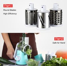 perfect Vegetable Cutter Round Mandoline Slicer Grater For Carrot Potato Julienne Stainless Steel Blades
