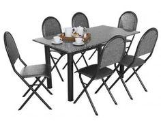 Conjunto de Mesa com 6 Cadeiras Madrid - Metalmix