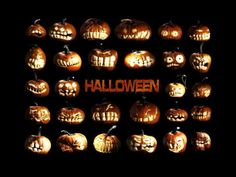 """Halloween Jack-O-Lantern expression package stickers """"Pumpkin Festival huge posters printed 40x60cm"""