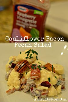 Easy Salad Recipe- Cauliflower Bacon Pecan Salad
