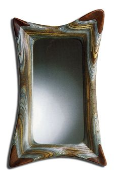The# Mirror Mirror by artist, Robert Hargrave, features a cool swag design. Available in 3 sizes Beautiful Plywood Sculpture features laminated and carved sheets of plywood carved into graceful and fluid forms.