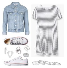 """""""NEXT TIME"""" by ll2amlllostllinllyoull ❤ liked on Polyvore featuring Topshop, MANGO, Converse, Bony Levy, Kendra Scott, Marc by Marc Jacobs and Jeweliq"""