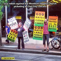 Anti-Westboro Baptist Church Protest…