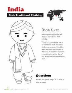Worksheets: Traditional Indian Clothing