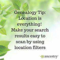 Location, Location, Location! #GenealogyTips #ancestry #genealogy #familyhistory #familytree #ancestors