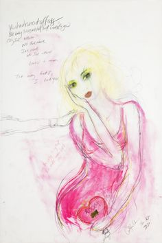 Courtney Love, Self Portrait Courtney Love, Famous Musicians, Art Studies, Disney Characters, Fictional Characters, Art Pieces, Aurora Sleeping Beauty, Disney Princess, Illustration