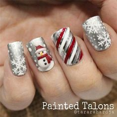 Cable Knit Nails The Latest Trend This Season – Stylendesigns 21 Fabulous and Easy Christmas Nail Designs: Fashionable Silver Nail Design for Christmas Related posts:Christmas Nail Art Designs To Look Trendy This Season. Silver Nail Designs, Christmas Nail Art Designs, Holiday Nail Art, Winter Nail Art, Cute Nail Designs, Christmas Ideas, Christmas Design, Christmas Snowman, Pretty Designs