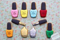 These nail polish cookies are so freaking cute!