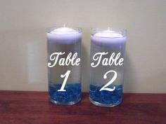 Wedding Floating Candle Table Number Centerpiece by ValueVinylArt, $10.00