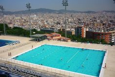 The World's Most Beautiful Public Swimming Pools Barcelona Travel, Barcelona Spain, Olympic Swimming, Swimming Pools, Balearic Islands, World's Most Beautiful, Summer Olympics, Canary Islands, Great View