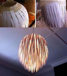 Personalizando una lámpara tipo ikea