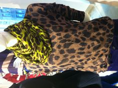 leopard on leopard with yellow