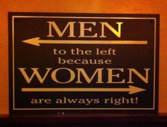 Men to the left…