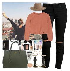 """""""Flying to family back in California✈"""" by jahzariah-allen ❤ liked on Polyvore featuring Joe's Jeans, Brunello Cucinelli, Yves Saint Laurent, Zimmermann, Prada, River Island, Forever 21, Givenchy, Nixon and Natural Life"""